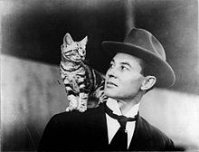 John Moisant and beloved cat Mademoiselle Fifi