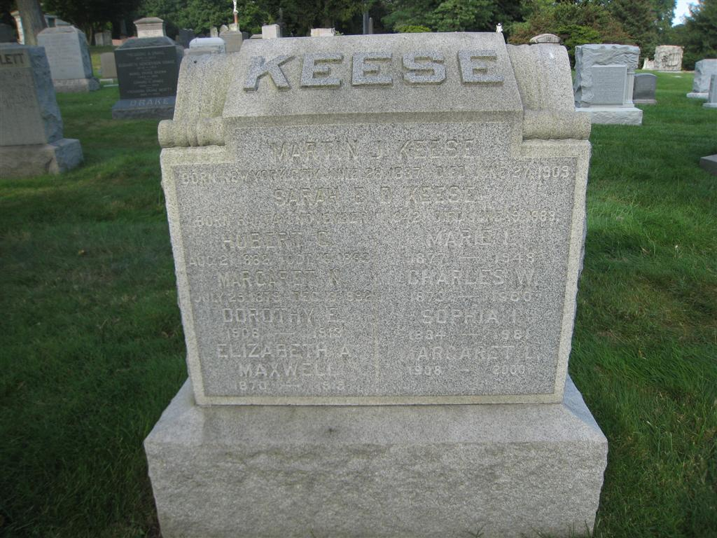 Marty Keese gravesite