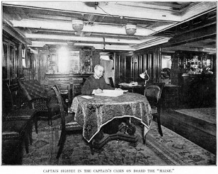 Captain Sigsbee in his cabin on the USS Maine.
