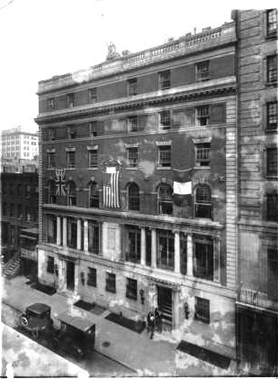 Lamb's Club, West 44th Street, 1918