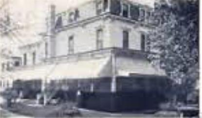 The old Sheepshead Bay police station was across from the Manhattan Villa, a boarding house and private residence owned by Mrs. Elizabeth Clute, shown here.