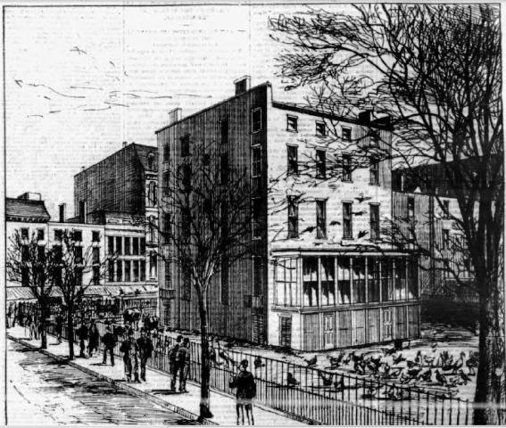Peter Goelet Mansion, Broadway and 19th Street, 1870s