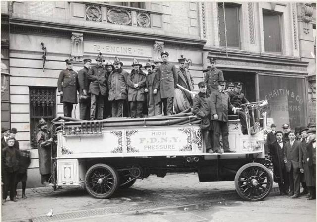 High-Pressure Hose Wagon, FDNY, 1910
