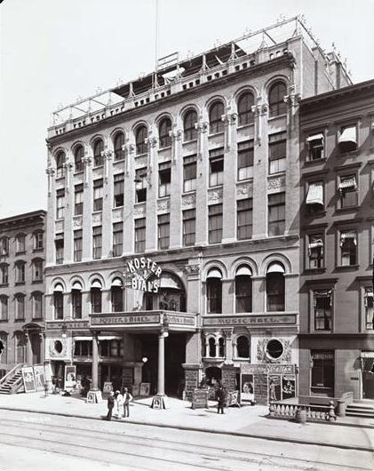 The new Koster and Bial's Music Hall on 34th Street opened on August 28, 1893, just two days after authorities shut down their 23rd Street venue. Museum of the City of New York Collections