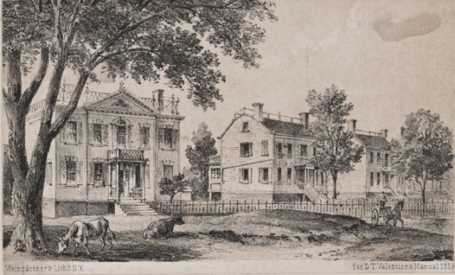 Old Murray Hill houses, Lexington and 37th Street. 1859