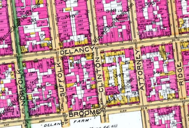 Clinton Street, New York City, Lower East Side, Map 1891