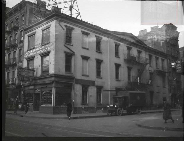Old Thirteenth Precinct station house at 178 Delancey Street 1924