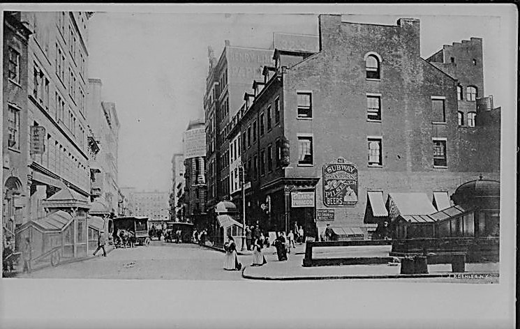 For 40 years, Fred Sauter stuffed every kind of animal imaginable at 42 Bleecker Street, pictured here on the right sometime around 1905.