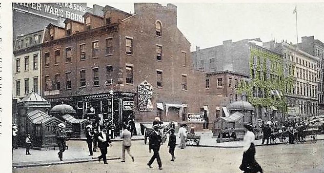 From August 1904 to September 1905, Joe Johnson operated the Subway Tavern at 42 Bleecker Street.