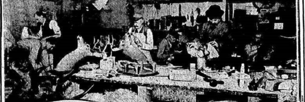 Fred Sauter did a thriving business stuffing deer, bears, lions, and even pet dogs and cats in his warehouse at 42 Bleecker Street (shown here in 1911).