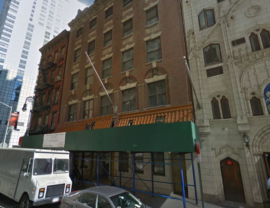 "The building at 105-107 Washington Street is one of only three structures from the ""Little Syria"" neighborhood still standing. #103 is an 1870s tenement that was later the St. George's Syrian Catholic Church, and #109 is a tenement building that is still an apartment house today."