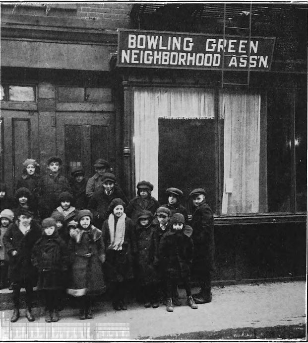 From November 1, 1919, to May 1, 1920, the BGNA operated an experimental restaurant for 25 undernourished children at 21 Morris Street.