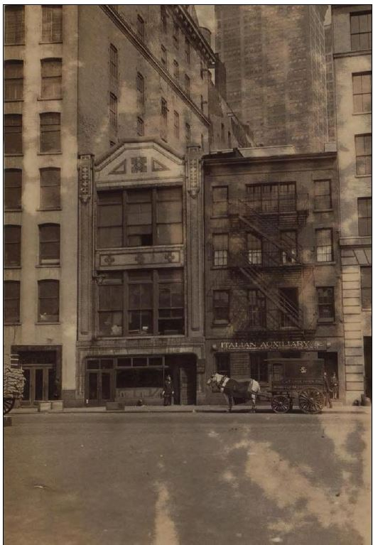 Here's 45 West Street in 1927, two years after the BGNA moved out. The building was demolished in the 1940s when the Brooklyn Battery Tunnel was constructed; after the tunnel opened in 1950, Crystal Street, later renamed Joseph P. Ward Street, was opened in the block between Washington and West streets where #45 had once stood. West Thames Street Pedestrian Bridge, scheduled to be completed in 2018, will be on this very site.