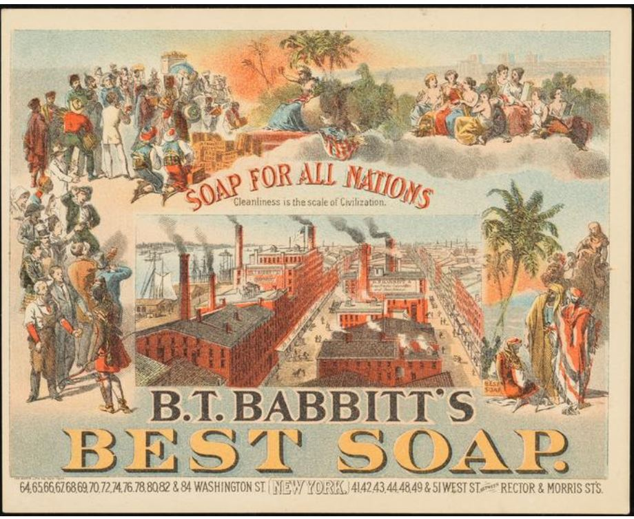 Benjamin Babbitt was known as a genius of advertising--his soap was one of the first nationally advertised products. Here's one such ad from 1882.