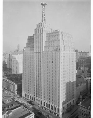 The Hotel Lincoln opened on January 31, 1928, just 10 months after construction began. Built by the Chanin Construction Company at a cost of more than $10 million and to be operated by the Chanin interests through James T. Clyde, who has been named its managing director.