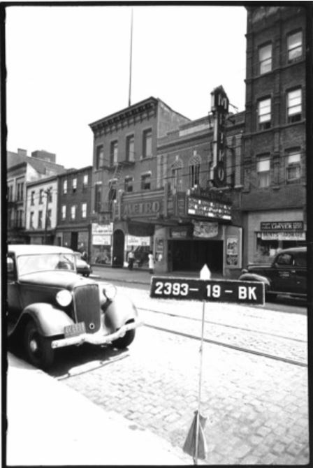 #194 Grand Street, once the Grand Street Museum, was home to the Metro Theatre from 1926 to 1947. Here's the Grand Street side of the building from a 1939 tax record photo.