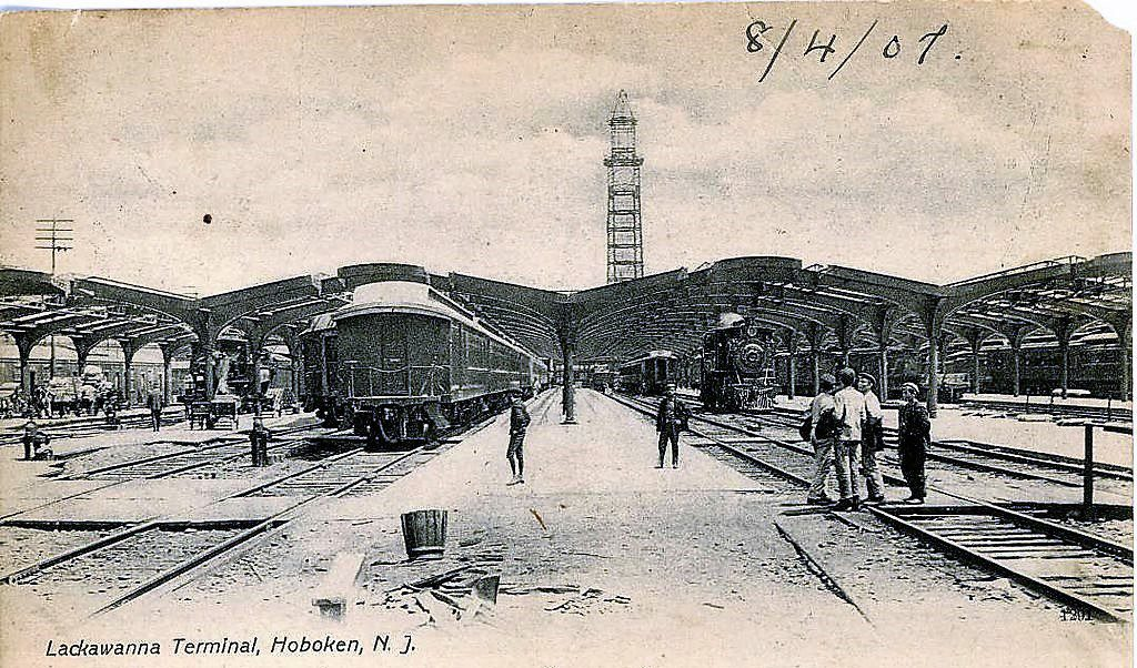 The Hoboken Terminal (aka Lackawanna Terminal) was constructed in 1907, when this photo was taken.