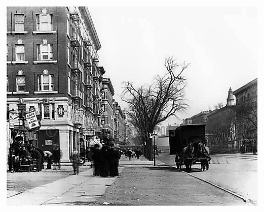 Herman Gottlieb got off the train with his baskets of catnip at Lenox Avenue and 110th Street, pictured here in 1910.