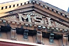 The MSI is still clearly visible on the old Manhattan Savings Institution building at 644 Broadway.