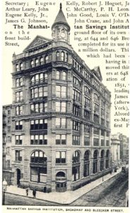 The Manhattan Savings Institution at 644 Broadway