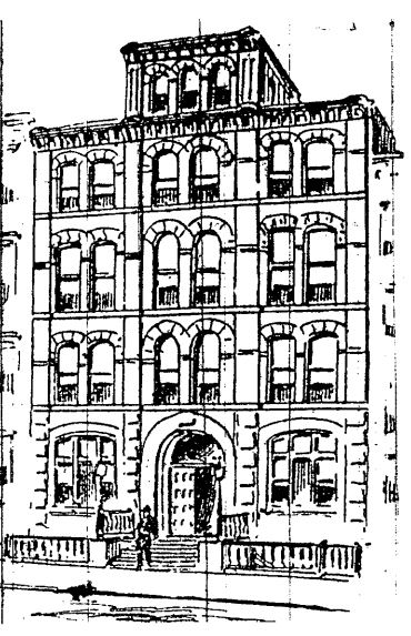 Sketch of the new 28th Police Precinct House on East 104th Street, New York Daily Tribune, April 5, 1893.